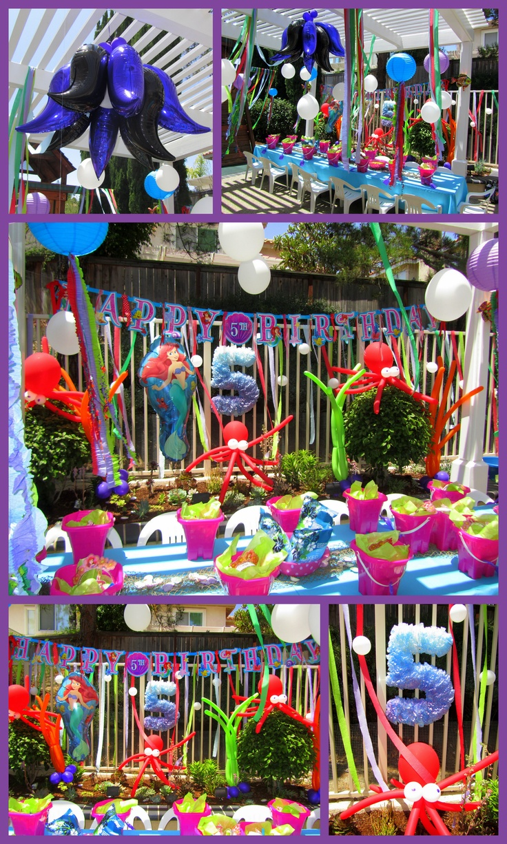 Little mermaid party decorations b birthday pinterest for Ariel birthday party decoration ideas