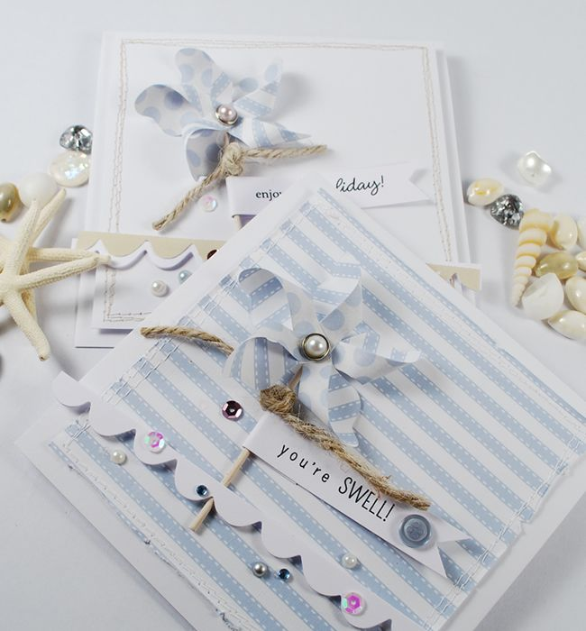 Twill Stripe from The Colour Collection & Tiny Seashore Sentiments