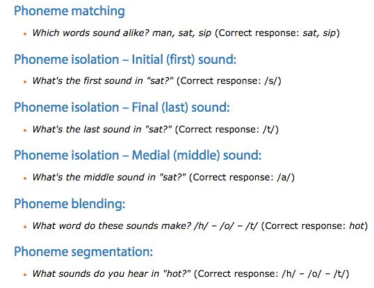 """ASSESSMENT: An informal assessment that can be used to assess Phonemic Awareness is to meet with students and ask them a series of questions. The article """"Phonemic Awareness Assessment"""" by Reading Rockets demonstrates possible questions that a teacher can ask students. I think this is an effective form of assessment as the questions are straight forward, easy to follow, and cover the important parts that make up words (beginning, middle, and end sound, blending, manipulation, and…"""