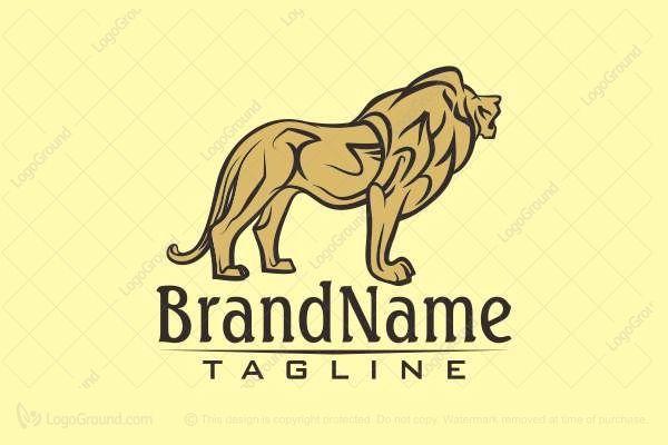 Logo for sale: Golden Lion Logo