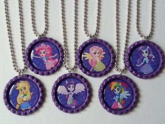 Fluttershy bottle cap pendent with butterfly