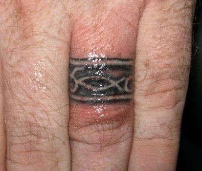 26 best Wedding Band Rings Tattoos for Him images on Pinterest