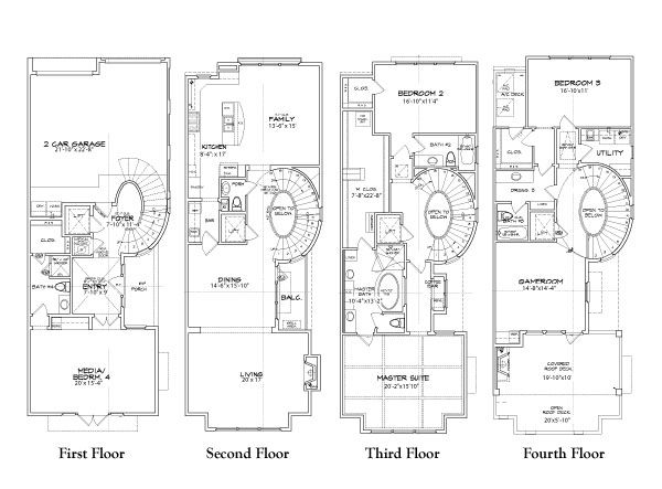 Luxury townhouse plans with luxury townhouse floor plans for Townhouse building plans