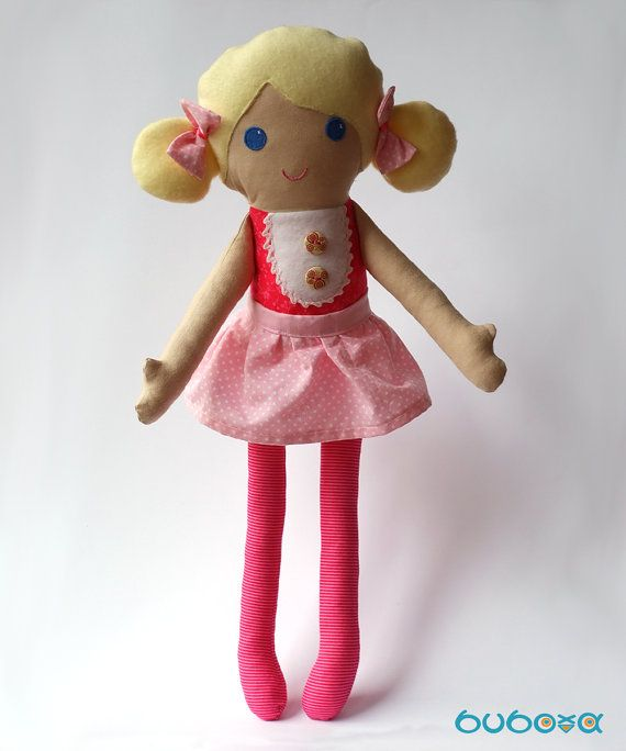 Blond Fabric Doll With Removable Skirt by buboxa on Etsy