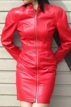 Vintage North Beach Leather Scuba Dress