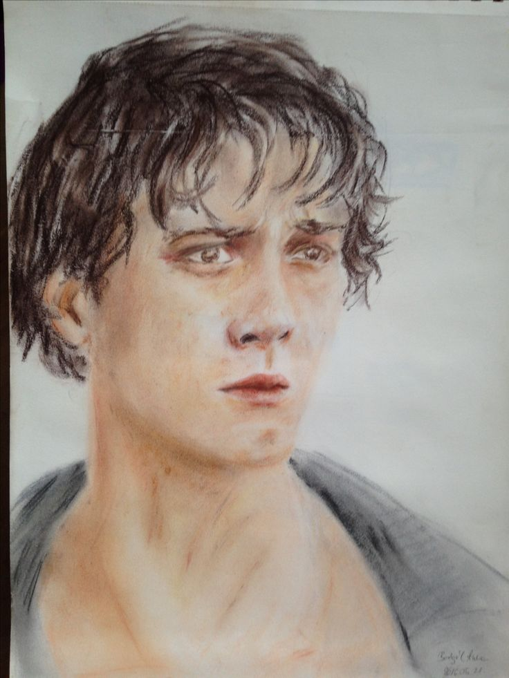 Bob Morley from The 100 series #portrait #the100 #color #drawing #pastel #bobmorley