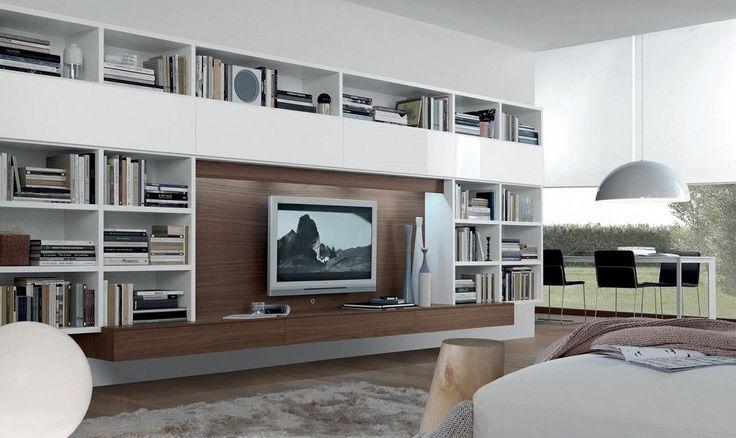 contemporary TV wall unit OPEN JESSE
