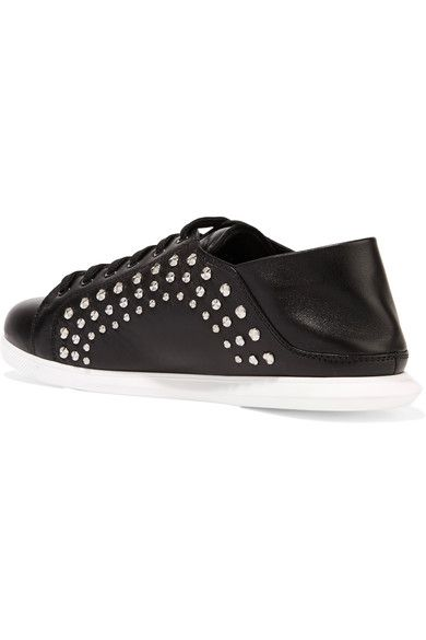 Alexander McQueen - Studded Leather Sneakers - Black - IT38.5