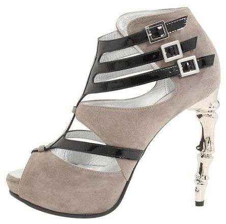 Dsquared2 Ribcage Gladiator Bootie in Stucco