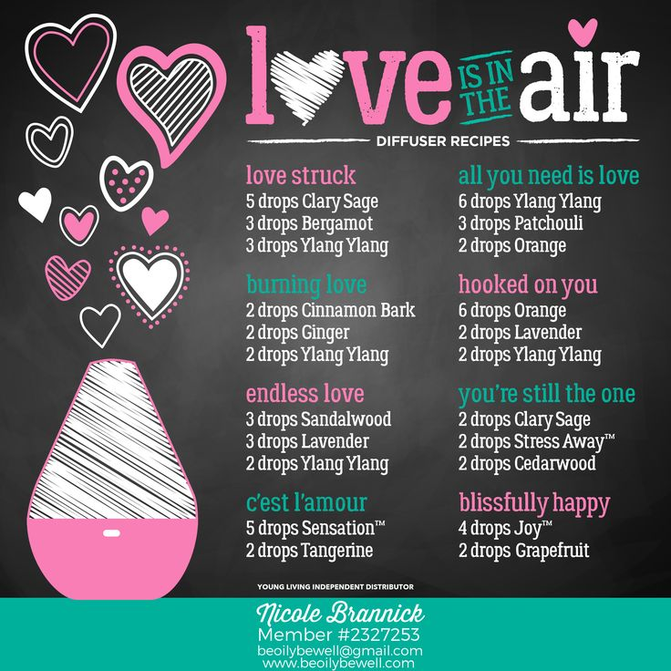 Young Living diffuser recipes - just in time for Valentine's Day