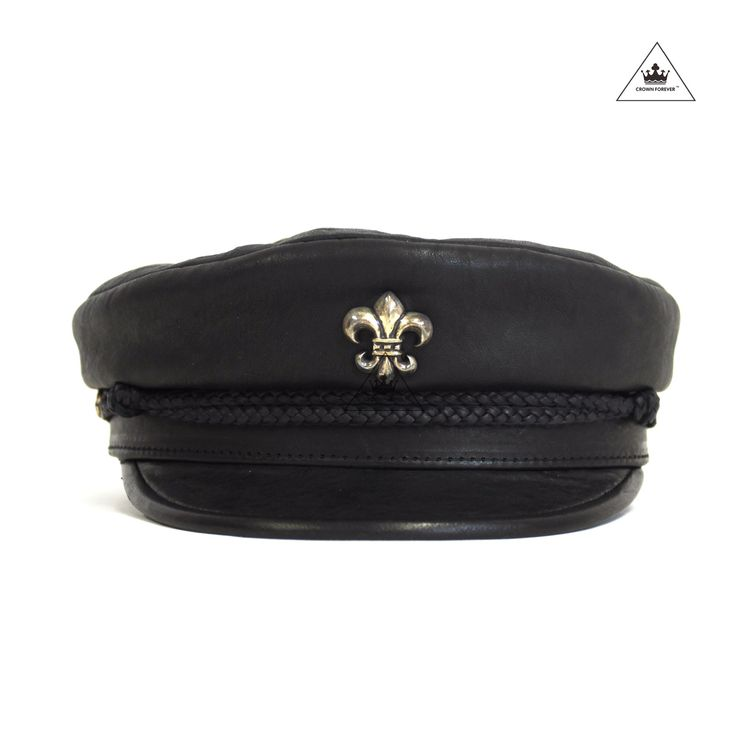 Exquisite Lambskin Chrome Hearts Captain's Hat Features include: - BS Fleur stitched patch is 100% Lambskin. - 925 Silver on front BS Fleur Patch and back of the Hat - Made in the USA *Please note tha
