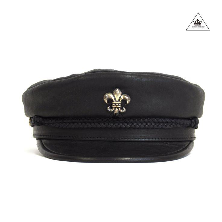 Chrome Hearts Lambskin BS Fleur Captains Hat