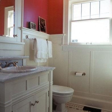 Picture rail powder room bedroom design pictures for Tudor bathroom ideas