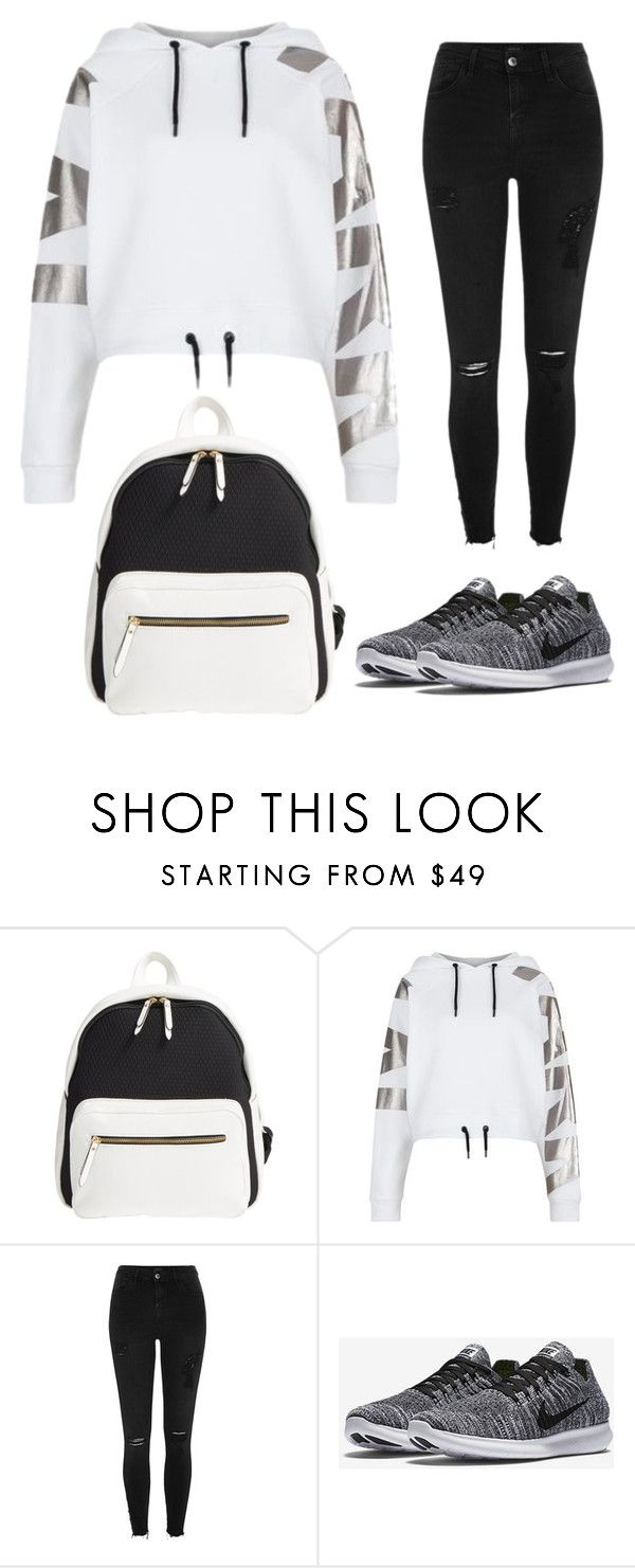 """""""style"""" by ristadey ❤ liked on Polyvore featuring Poverty Flats, Ivy Park, River Island and NIKE"""