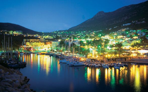 Kalkan Harbour by night... the place I will retire to.