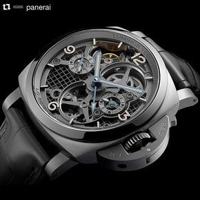The Lo Scienziato - Luminor 1950 Tourbillon GMT Titanio 47mm from TFG's client @panerai is a masterpiece of remarkable technical contents: for the case construction Panerai uses for the first time the new Direct Metal Laser Sintering Technology that allows for highly complex geometries to be created directly from 3D CAD (3D Laser Printing Technique). This extremely innovative technology allows a gain of more than 30% on the total weight of the case while the water resistance solidity and…