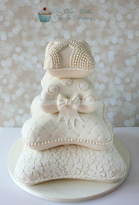 Stacked Pillow/Cushion Wedding Cake