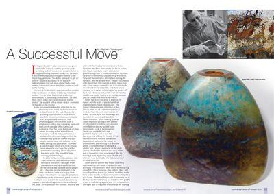 Craft & Design Magazine, January 2014 - An interview with Adam Aaronson. See Adam's work here: miratis.com/glass.html?manufacturer=94