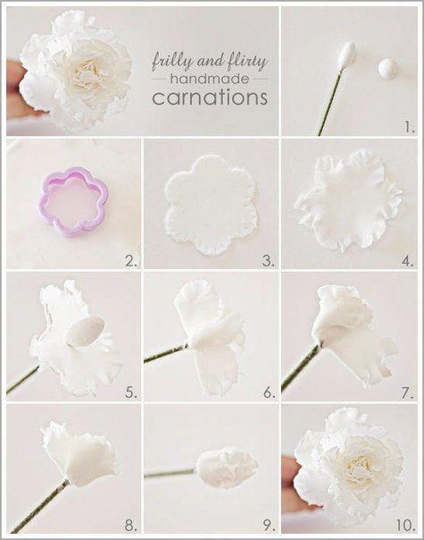 Resultado de imagen de como hacer flores de pastillaje paso a paso