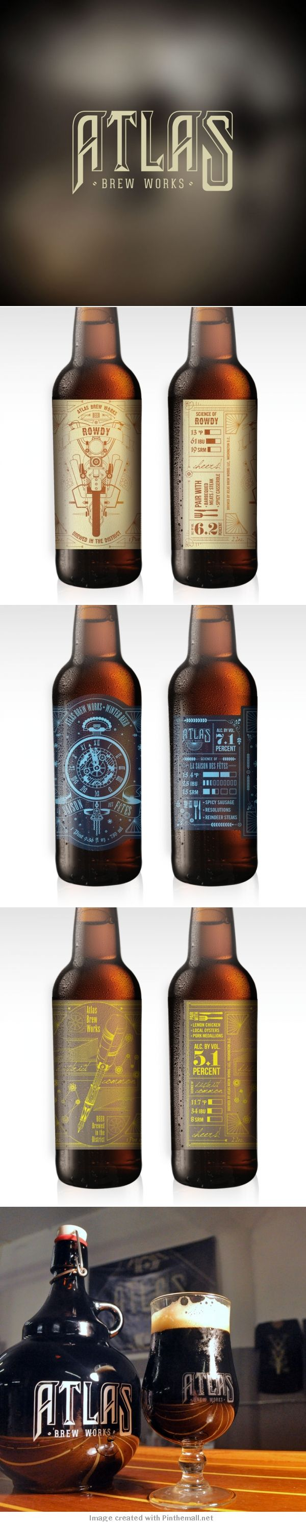 Vip these de lite ful orchid designs include 9 designs which can be - Atlas Brew Works Craft Brewery In Washington D C Packaging Design By Bates Creative