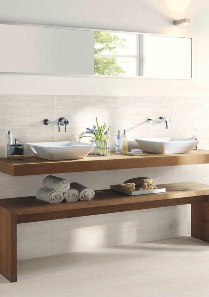 Arbeitsplatten für schwimmende Badezimmer und mit Schränken zum Dekorieren » Wohnideen für Inspiration