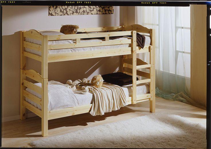 Letto a castello divisibile in pino massiccio, per camera da letto ...