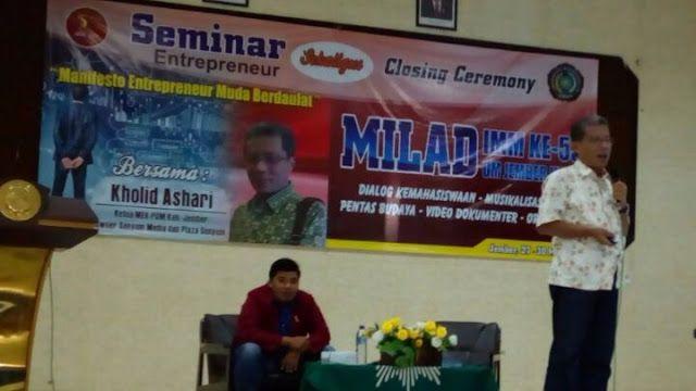 Kholid Ashari : Jadi Pengusaha Harus Maju dan Menang! #bisnis wirausaha majelis ekonomi PC IMM seminar