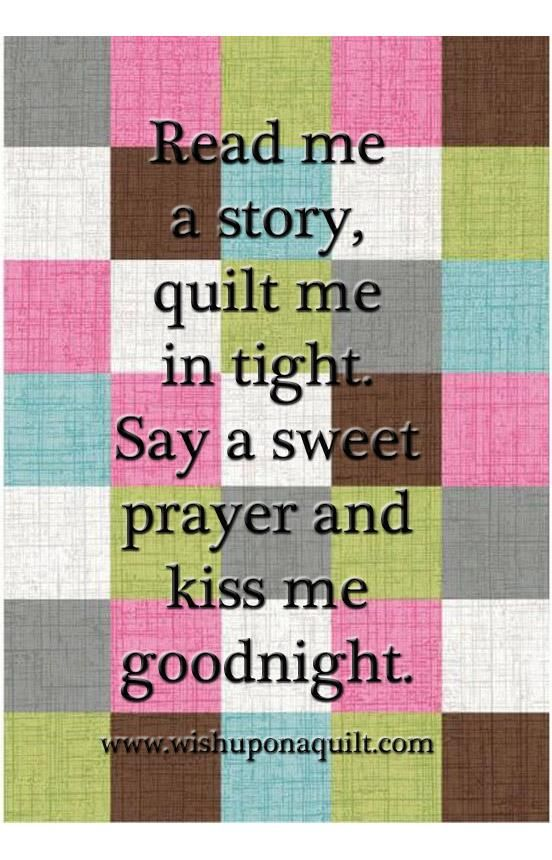 nice sentiment - for a quilt label?