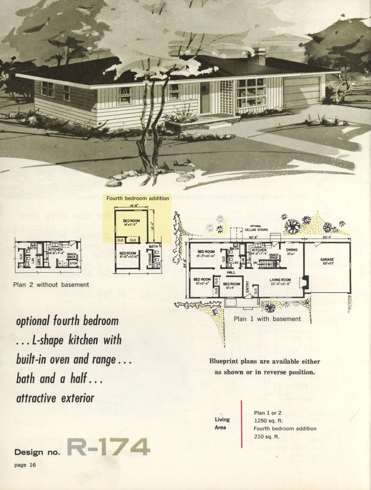 Town country ranch homes 1962 vintage house plans for 1960s ranch house plans