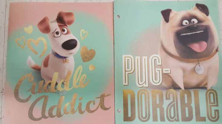 The Secret Life of Pets Max Mel 3 Ring Binder Folder 2 Pack | eBay