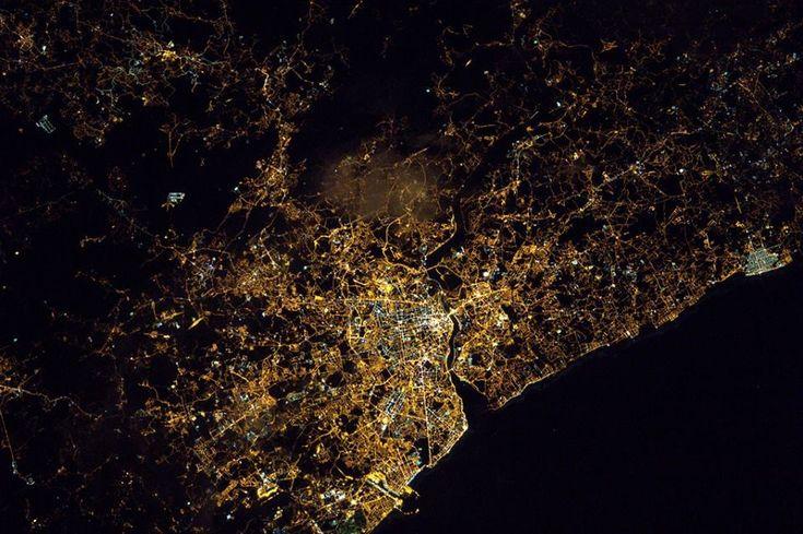 O astronauta Thomas Pesquet publicou uma fotografia do Porto tirada da sua janela na Estação Espacial Internacional.