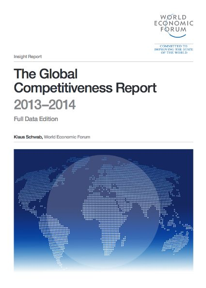 World Economic Forum's 'The Global Competitiveness Report' is based on GCI scores which are calculated by drawing together country-level data covering 12 categories: institutions, infrastructure, macroeconomic environment, health and primary education, higher education and training, goods market efficiency, labour market efficiency, financial market development, technological readiness, market size, business sophistication and innovation.