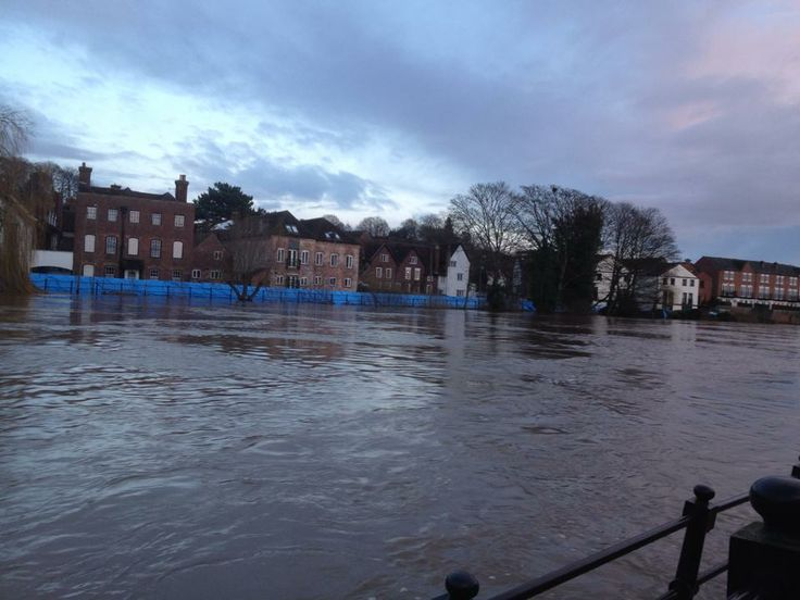 Flooded River Severn - Bewdley, Worcestershire