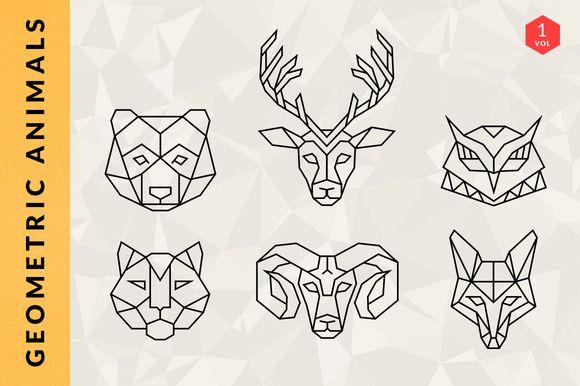 Geometric Animal Logos - Volume 1 by Adrian Pelletier on Creative Market
