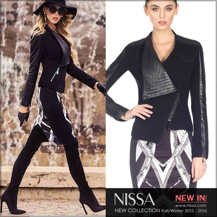 #nissa #new #collection #fall #autumn #fw #fw2015 #fall2015 #skirt #model #fashion #fashionista #look #outfit #style #stylish #jacket #jacheta #leather
