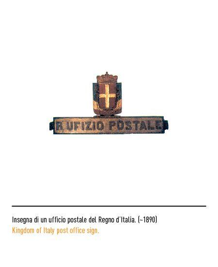 Marchio Poste Italiane - Insegna di un ufficio postale del Regno d'Italia ~1890
