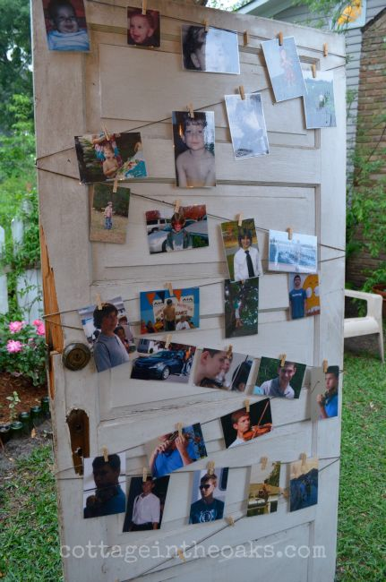 Graduation Party_Cottage in the Oaks, would be cute idea featuring pictures of bride and groom!