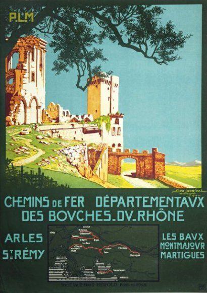 PLM - chemins de fer départementaux des Bouches-du-Rhône - Arles - illustration…