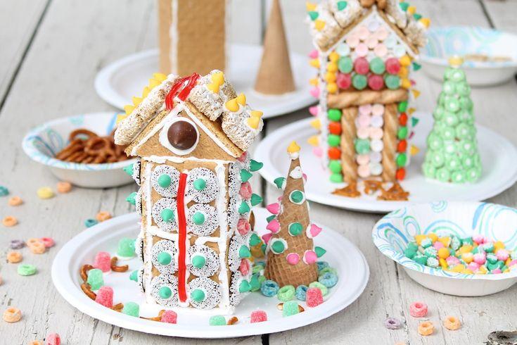 Easy Graham Cracker Houses