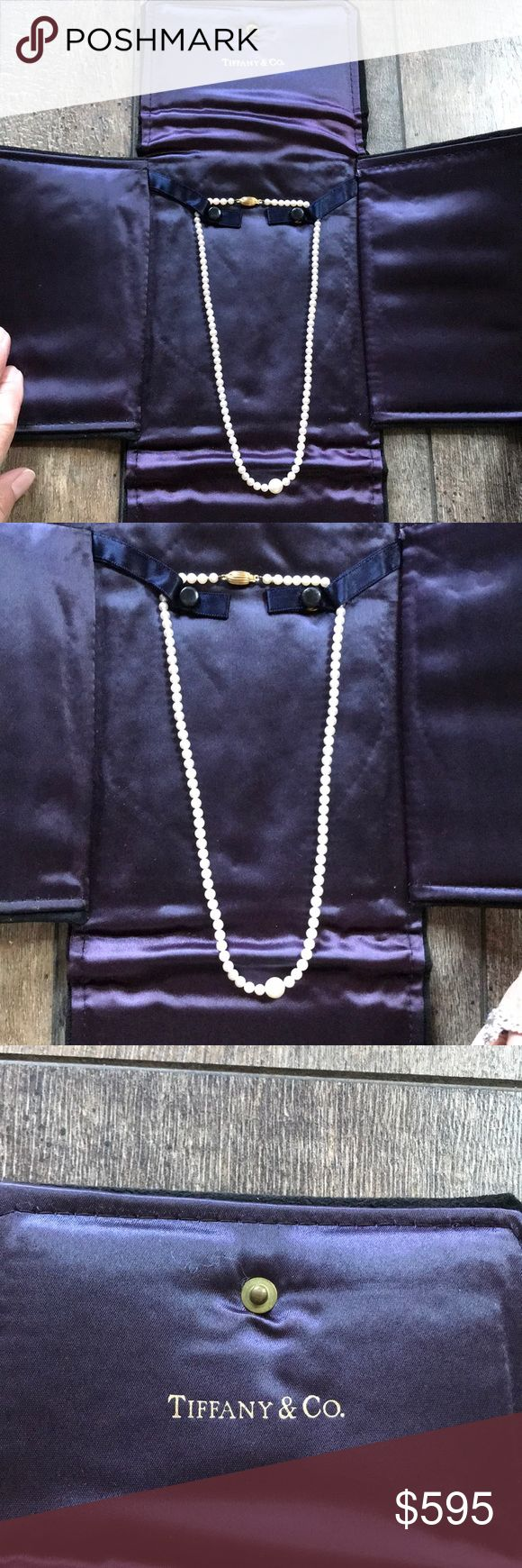 Beautiful authentic Tiffany pearls, just stunning! Beautiful Tiffany pearl necklace, individually hand knotted, gold clasp. Paid $800 barely worn, just stunning!!!! Tiffany & Co. Jewelry Necklaces