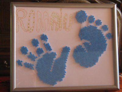 Baby gift hama beads by perleshama30
