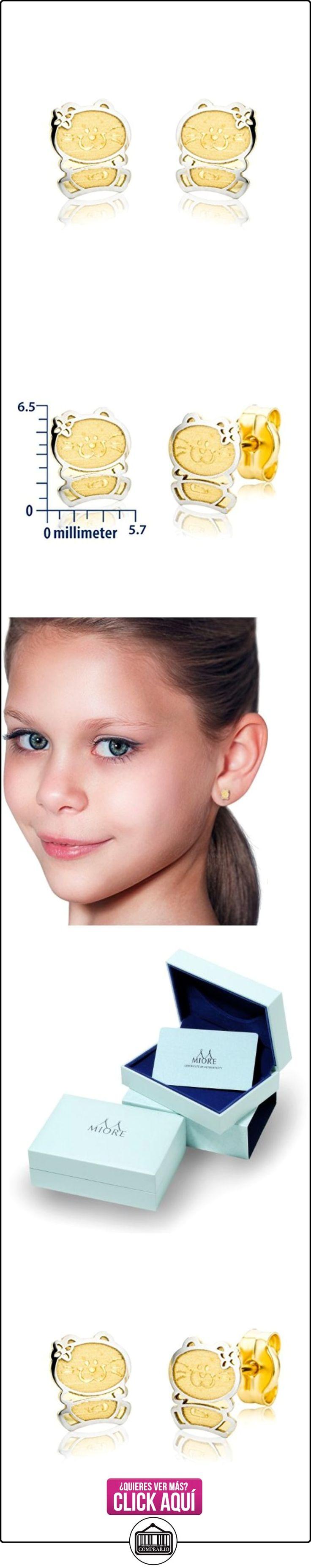 Miore Pendientes de niña con oro bicolor de 18 k (750)  ✿ Joyas para niñas - Regalos ✿ ▬► Ver oferta: https://comprar.io/goto/B004K6KYSS