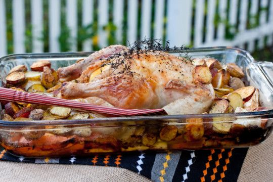 Roasted Chicken with Fall Vegetables