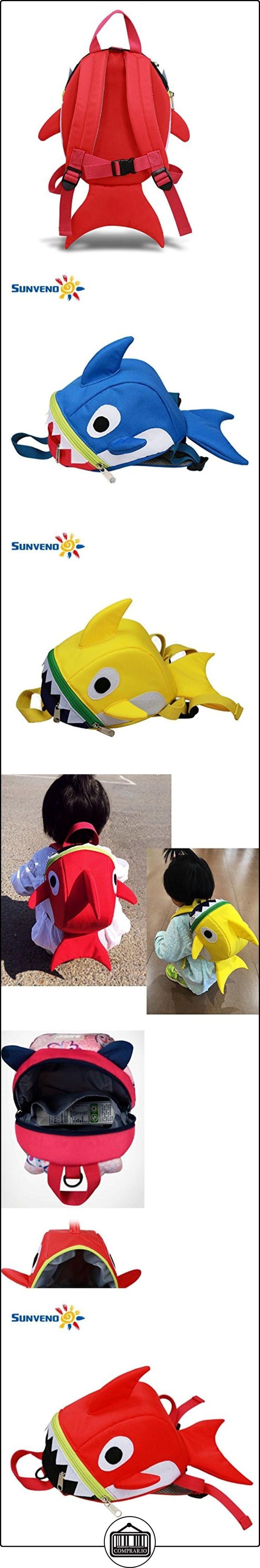 sunveno para bebé arnés de seguridad anti-lost mochila correa Walker Backbag con niños tiburón tipo mochila rojo rosso  ✿ Seguridad para tu bebé - (Protege a tus hijos) ✿ ▬► Ver oferta: http://comprar.io/goto/B01NCLKR23
