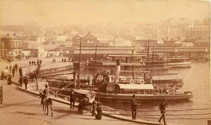 Circular Quay in Sydney in the 1880s.This is the curve on the east of the quay.
