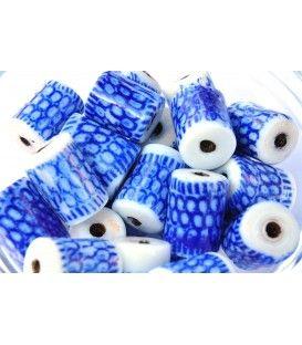 Porcelain and blue royal glass beads.  Buy at craft studio beads. Craftstudiobeads.eu