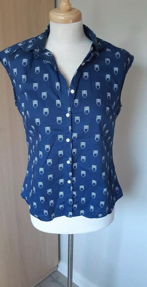 b62aeef8 Savile Row Women's Women's White Navy Poplin Owl-Print Semi-Fitted Shirt  #fashion #clothing #shoes #accessories #womensclothing #tops (ebay link)