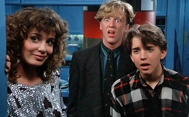 Weird Science - Two dweebs (Ilan Mitchell-Smith and Anthony Michael Hall) create the ideal woman (Kelly LeBrock) with magic, computers, and hormonal fantasy.