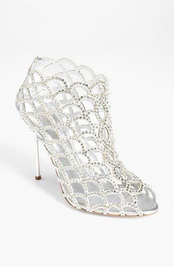 6125035d6 Sergio Rossi  Mermaid  Bootie - Metallic leather waves dotted with Swarovski  crystals create an