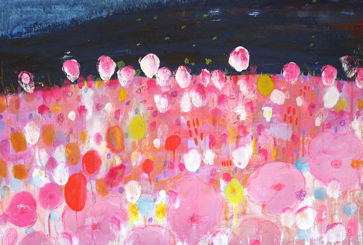 When Everything In The World Is Blossoming an Original Work of Art By Saffron Craig W.60cm x H.50cm. Oiland mixed...